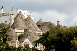 "The cone-shaped ""trulli"" houses of Alberobello"