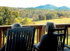 The view from Blackstock Vineyards & Winery