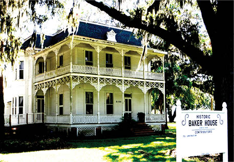Built by Senator David Hume Baker in the late 1800s, this Victorian-style house and five acres of property were donated to the City of Wildwood. The house is currently being renovated to become the home of the Wildwood Area Historical Society. Several fundraising events have recently taken place and tours will be available later in the year.