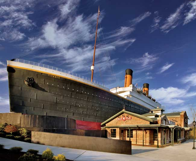 One of those at-first seemingly touristy places was the Titanic Museum with a replica of the ill-fated ship dominating the Pigeon Forge landscape.