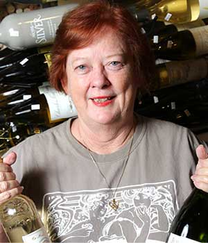 Joyce Huey, owner of Two Old Hags Wine Shoppe in Leesburg