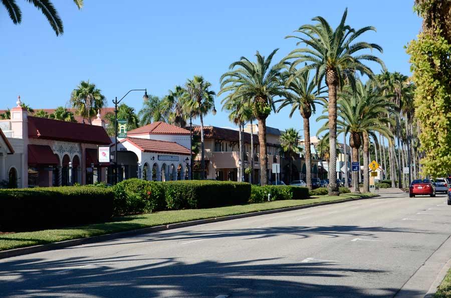 Street scene in Venice Florida