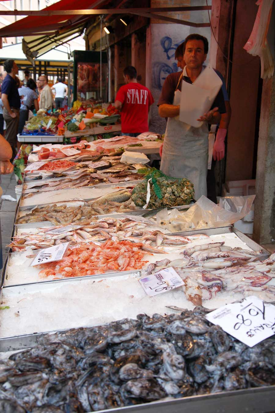 A Fishmonger in Venice Italy