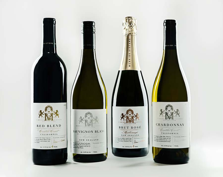 The McBride Sisters Collection features two wines from New Zealand and two from California.
